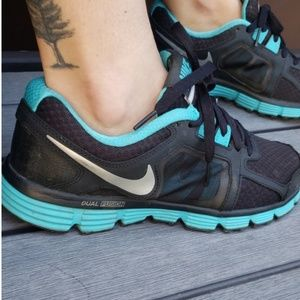 Nike Swoosh athletic shoes
